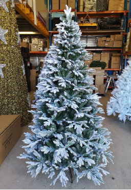 Snow Flocked Christmas Trees