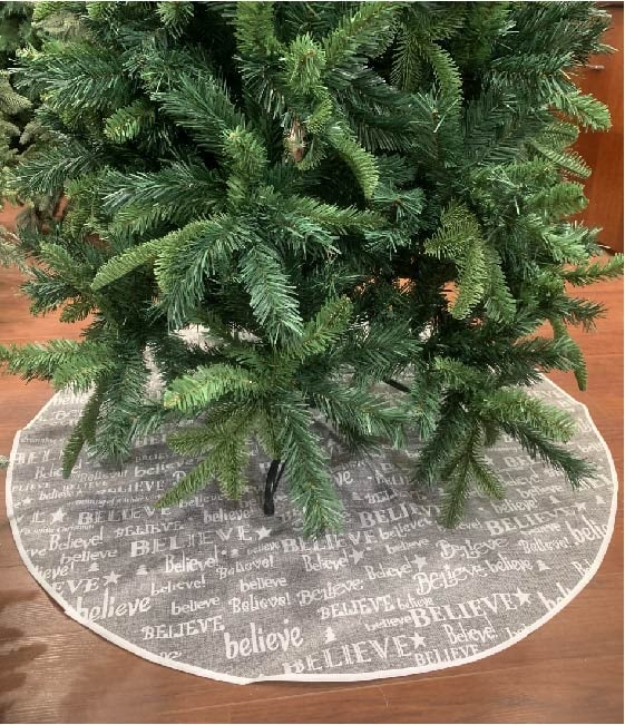 Linen Christmas Tree Skirt: Linen Style Christmas Tree Skirt